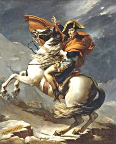 David prints on canvas or paper uk for Napoleon horse painting