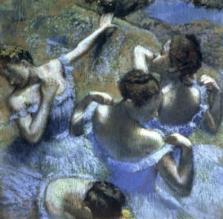[Degas Prints - Blue Dancers]