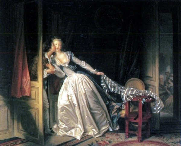 [Fragonard Prints - The Stolen Kiss]