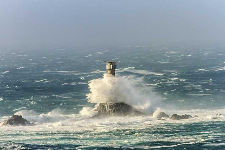[Land's End - Longships Lighthouse #1, Stormy Sea]