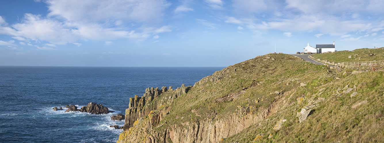 [Land's End - Panorama, looking North to the First and Last]