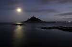 [St Michael's Mount at Night, with Moon]