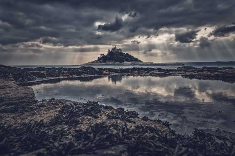 [Marazion - St Michael's Mount, from Mount Haven Hotel]