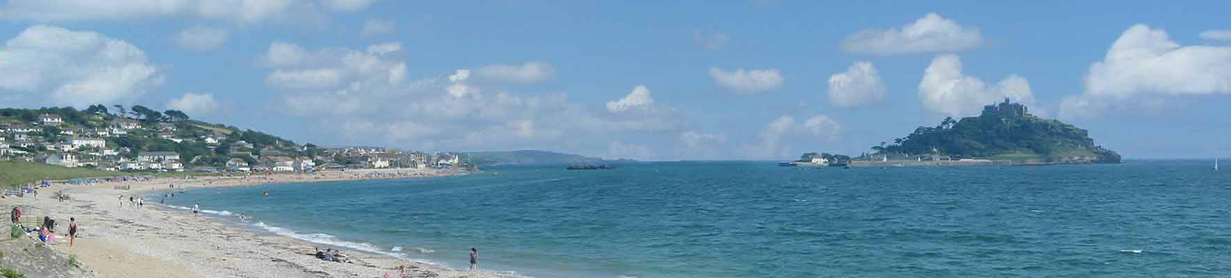 [Marazion - St Michaels Mount and Beach Panorama]