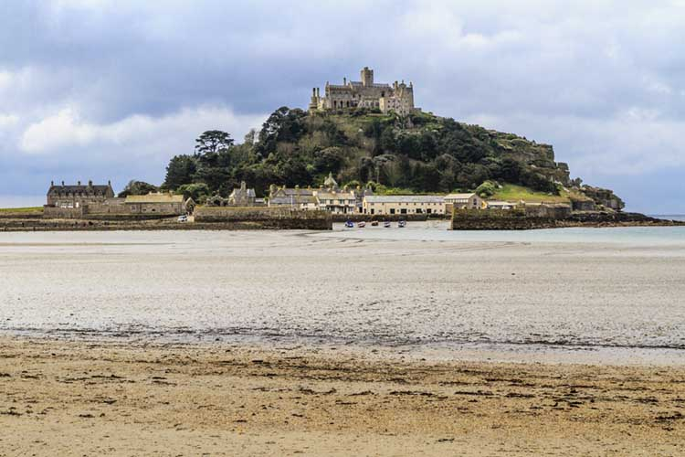 [Marazion, Cornwall - St Michael's Mount from the Beach]