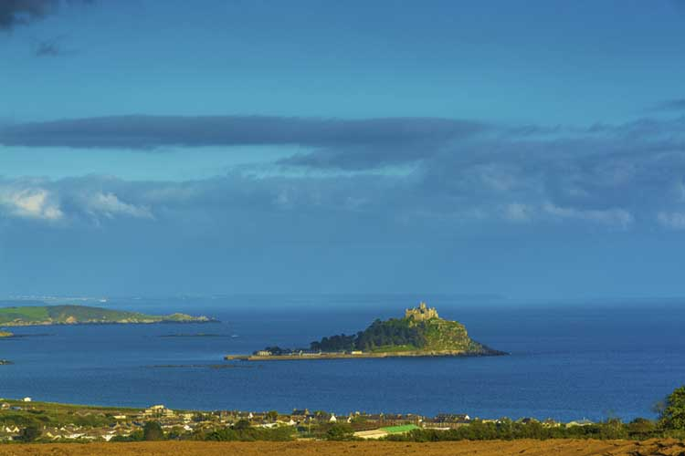 [Marazion, Cornwall - St Michael's Mount from High Ground]