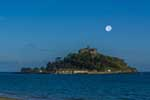 [St Michaels Mount, Dusk with Moon]