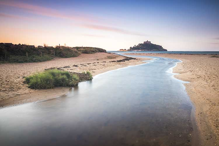 [St Michael's Mount Sunrise with Red River]