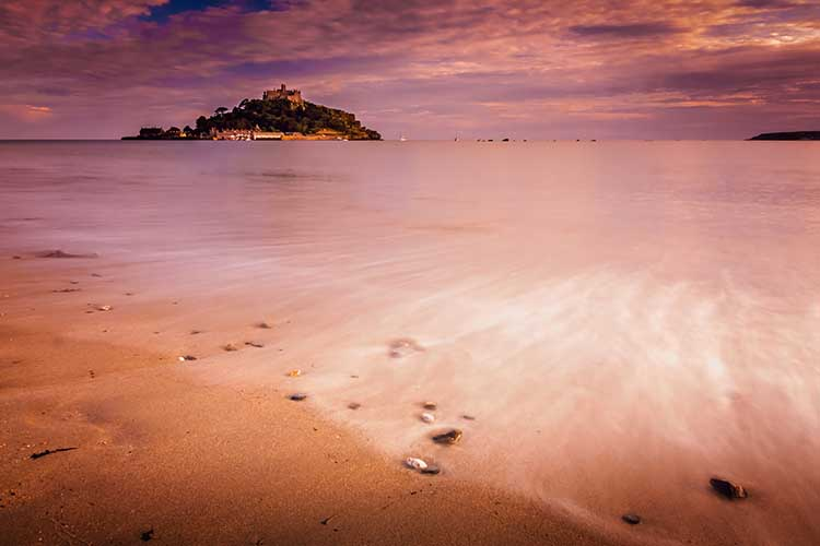 [St Michael's Mount Sunset #3, with Beach]