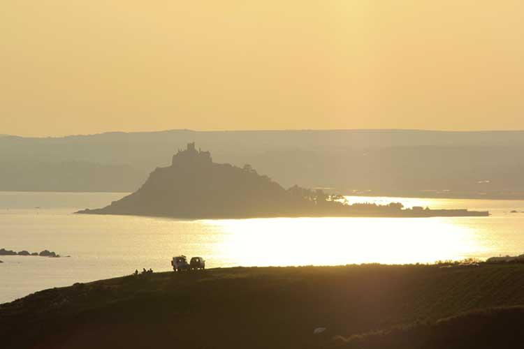 [Marazion, Cornwall - St Michael's Mount with Sunrise Glow]
