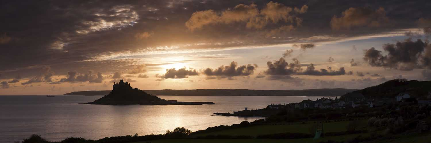 [Marazion - St Michaels Mount Sunset Panorama]