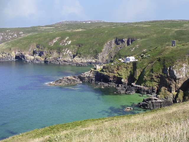[Cove Cottage on Lean Point above Treen Cove]
