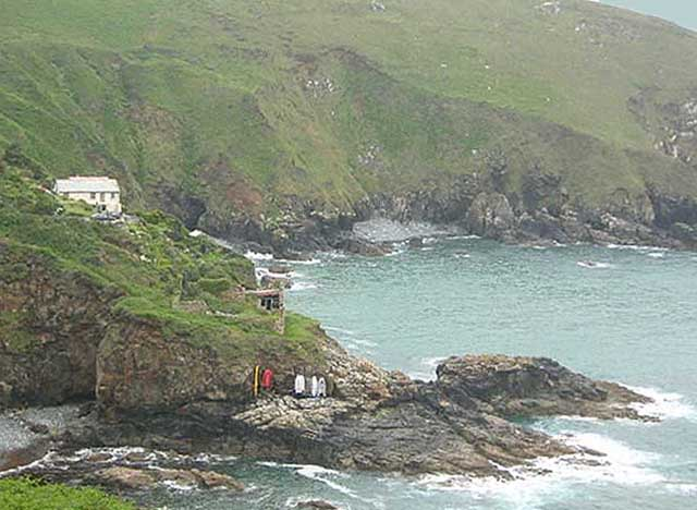 [Gurnard's Head, Cove Cottage on Lean Point above Treen Cove]