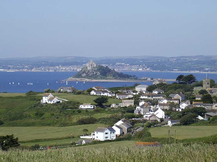 [Perranuthnoe Village with St Michael's Mount]