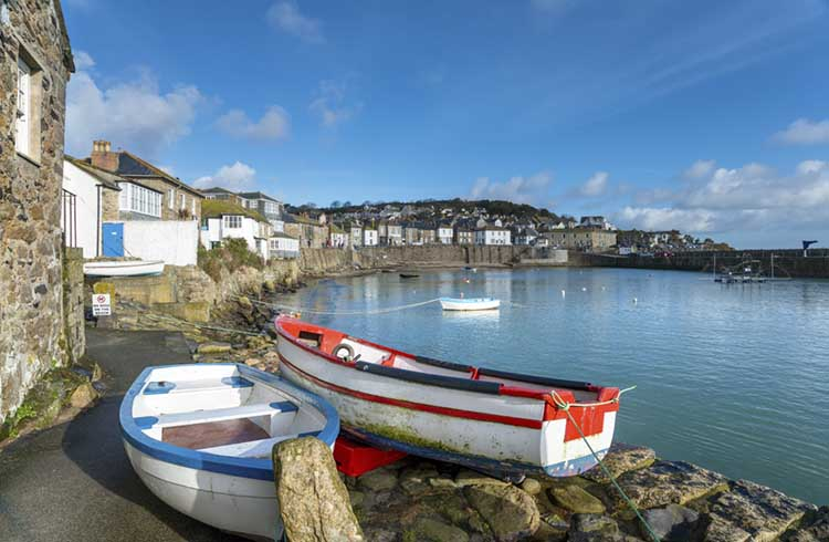 [Boats on the Path, Mousehole]