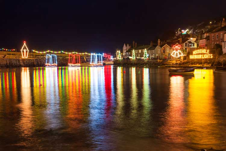 [Mousehole, Cornwall Xmas Lights #3]
