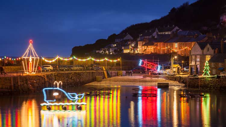 [Mousehole, Cornwall Xmas Lights #4]