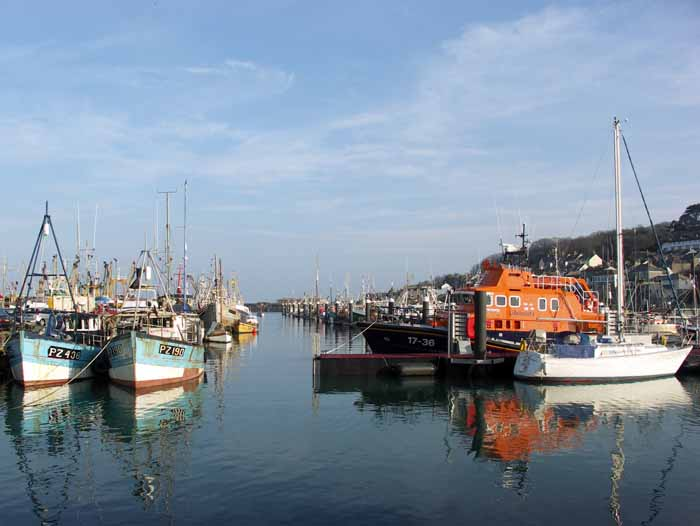 [Newlyn Harbour, with Lifeboat]