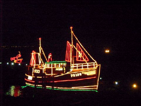 [Newlyn Xmas Lights Picture, Boat on the Slip #2]