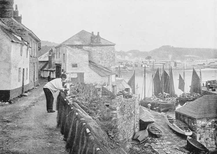 [Newlyn - Old Photo on Fore Street]