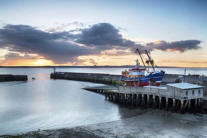 [Sunrise over Newlyn Harbour, Cornwall]