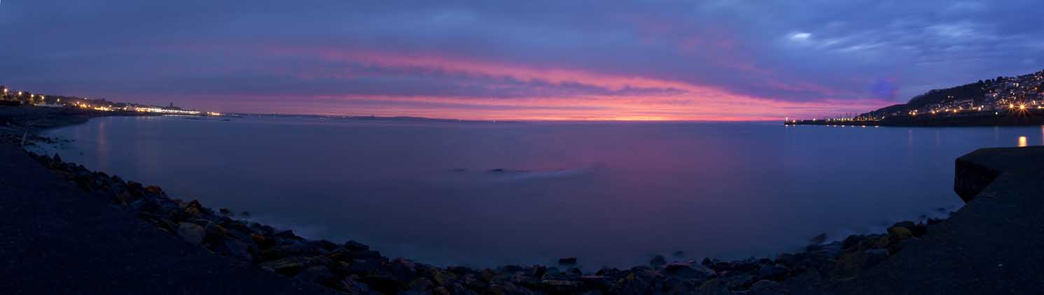[Penzance - Dawn, Sunrise Panorama, Mount's Bay]