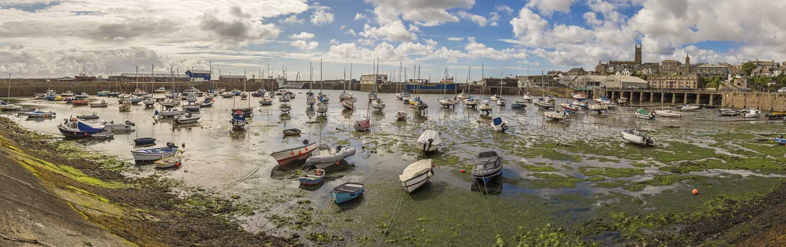 [Penzance - Harbour Panorama at Low Tide]