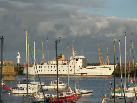 [Penzance Harbour, with the Scillonian, Evening]
