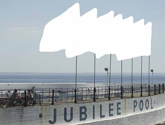 [Penzance Jubilee Pool, with Flags]