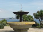 [Fountain in St Anthony Gardens, toward St Michael's Mount]