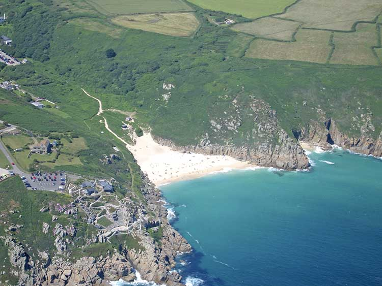 [Porthcurno, Cornwall - Aerial View]