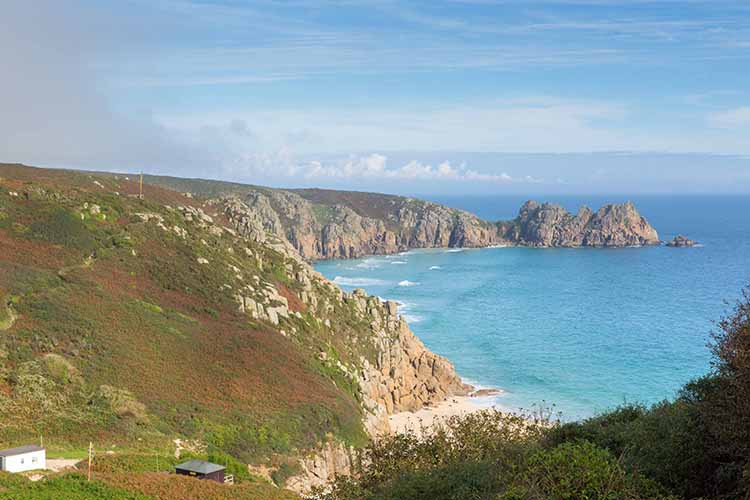 [Porthcurno Beach and Logan Rock #3]