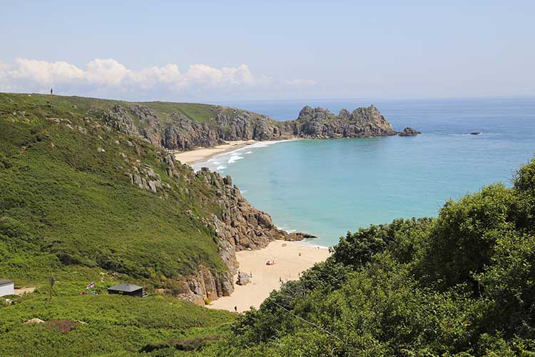 [Porthcurno, Cornwall - Beach and Logan Rock #4]