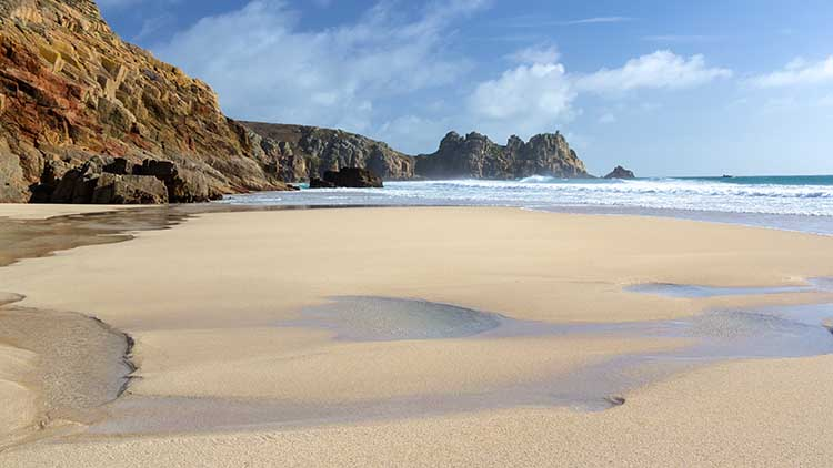 [Porthcurno, Cornwall - Beach and Logan Rock #6]