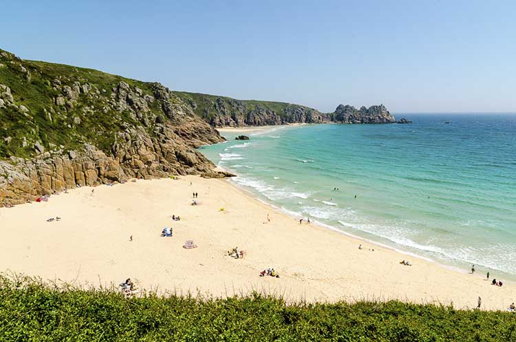 [Porthcurno, Cornwall - Beach and Logan Rock #8]