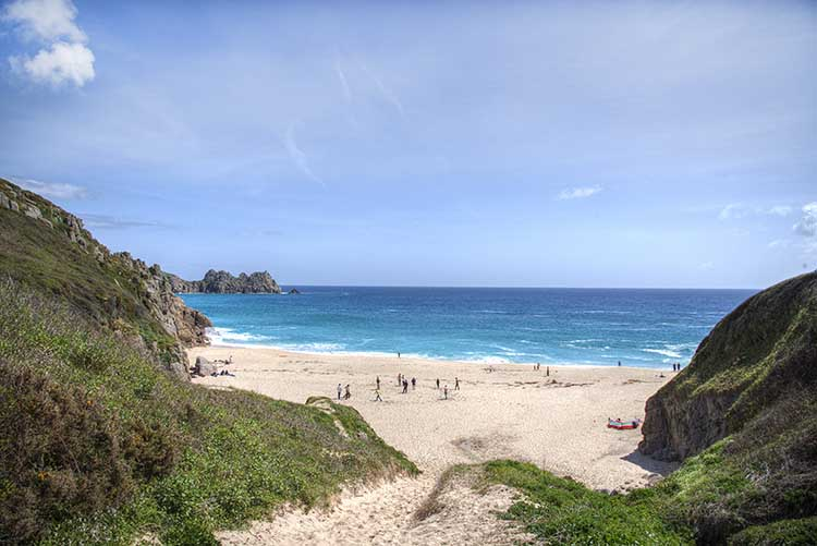 [Porthcurno, Cornwall - Beach and Logan Rock #9]