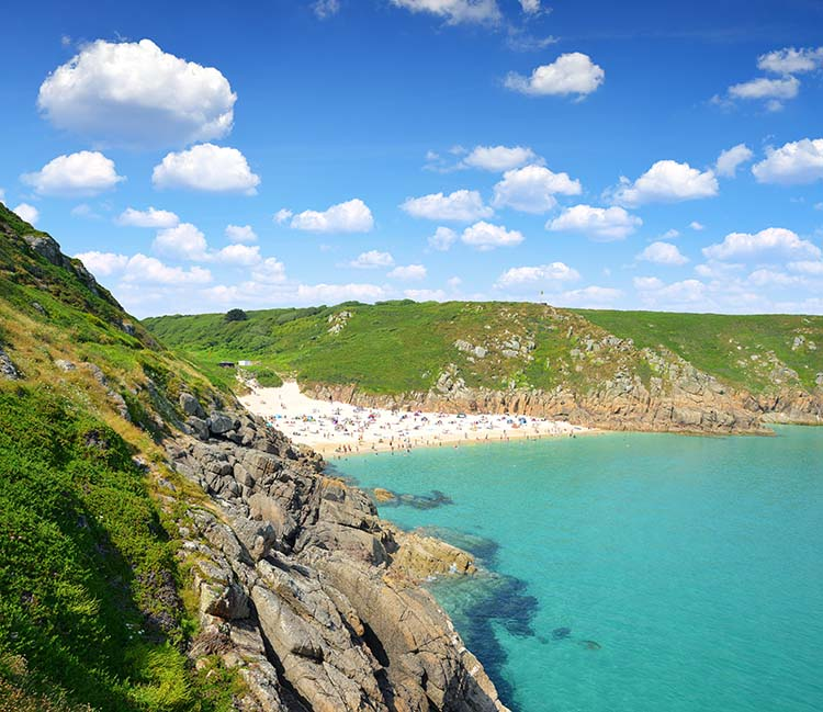 [Porthcurno Beach from High]