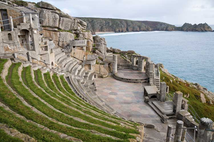 [Porthcurno, Cornwall - Minack Theatre with Logan Rock #1]