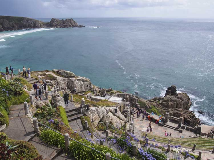 [Porthcurno, Cornwall - Minack Theatre with Logan Rock #2]