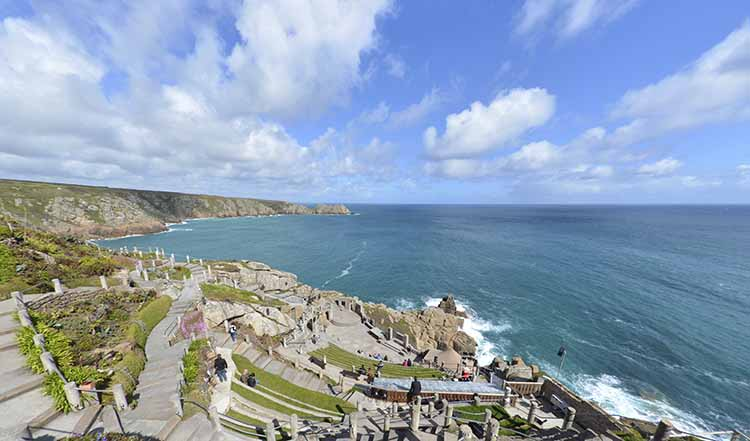 [Porthcurno, Cornwall - Minack Theatre with Logan Rock #3]
