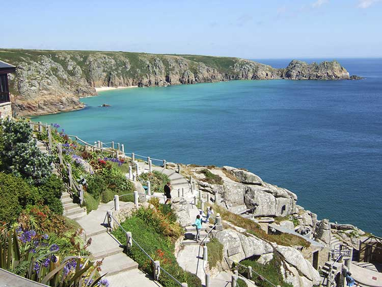 [Porthcurno, Cornwall - Minack Theatre with Logan Rock #4]