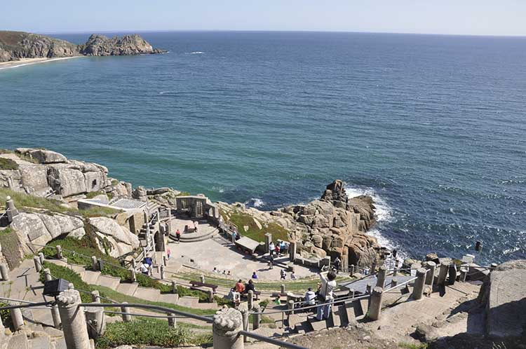 [Porthcurno, Cornwall - Minack Theatre with Logan Rock #5]