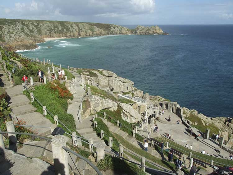 [Porthcurno, Cornwall - Minack Theatre with Logan Rock #6]