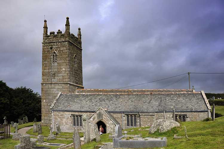 [Porthcurno, Cornwall - St Levan Church]
