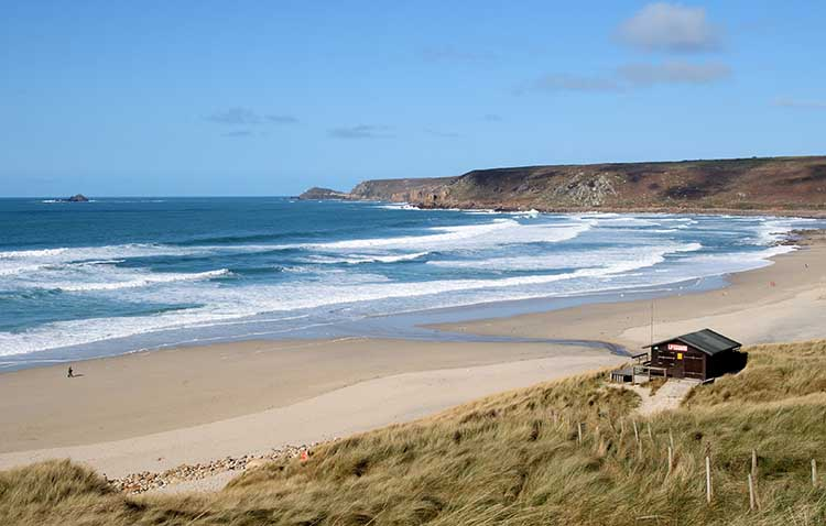[Sennen Cove, Cornwall - Beach with Lifeguard Station]