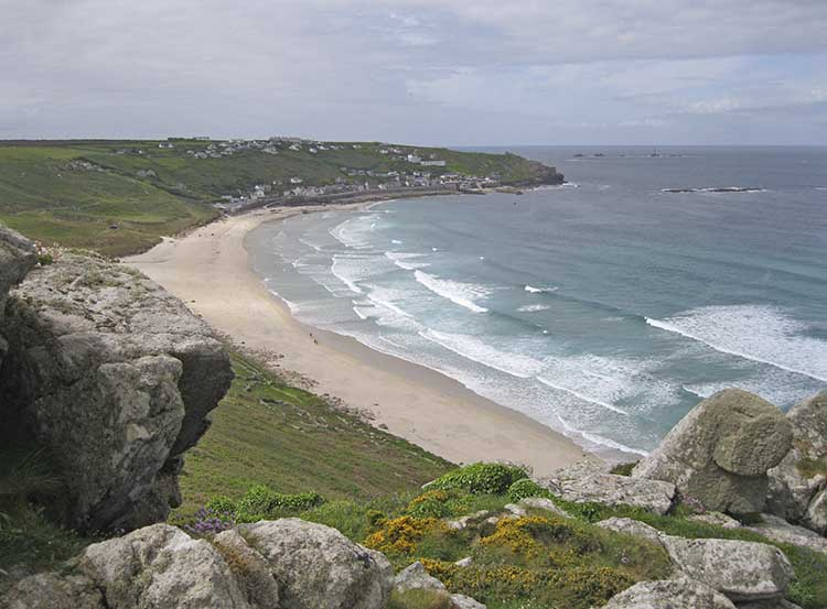 [Sennen Cove, Cornwall - Beach, from the North]