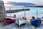 [Sennen Cove - Boats on the Beach, Dusk]