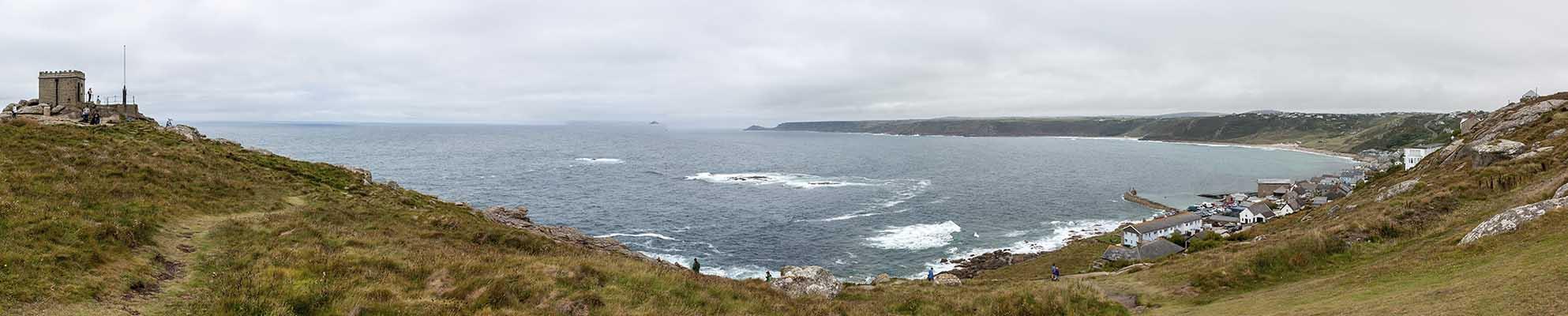 [Sennen Cove Whitesand Bay Panorama]