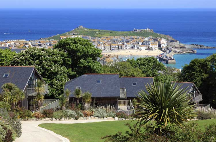 [St Ives, Cornwall - from Tregenna Castle Hotel]