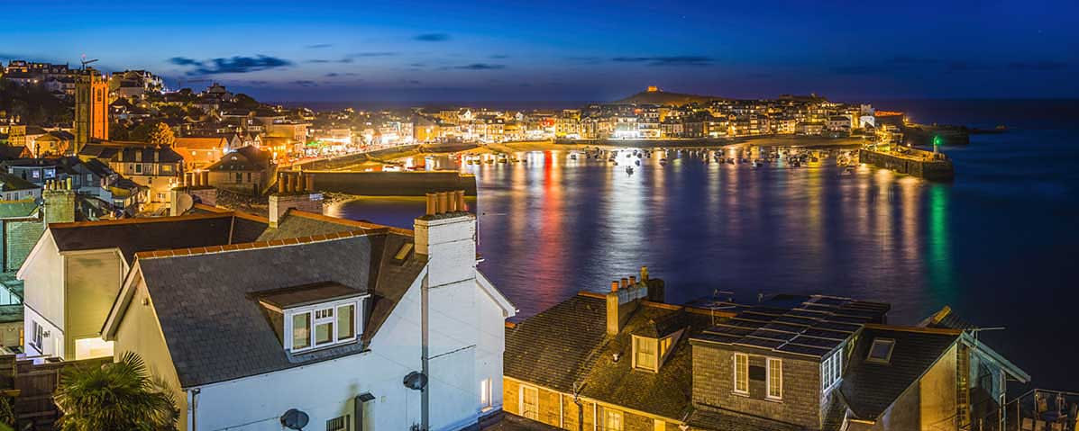 [St Ives Harbour at Night]